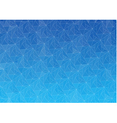 blue abstract gradient background with triangles vector image