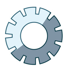Blue shading silhouette of pinion model four vector