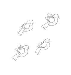 bullfinch bird coloring page vector image