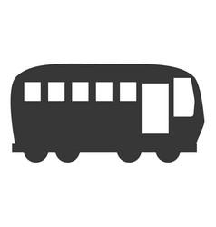 Bus vehicle symbol vector