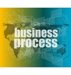 Business process word on digital screen mission vector