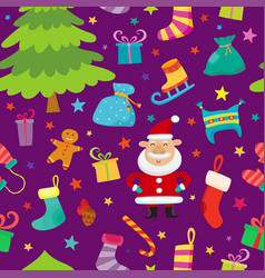 christmas seamless simple pattern with stars vector image