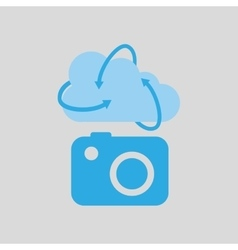 Cloud technology camera image media icon vector