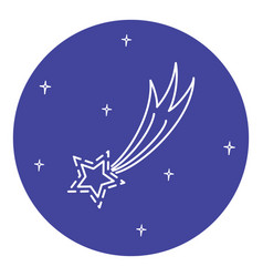 Comet icon in thin line style vector