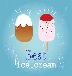 Delicious ice cream vector