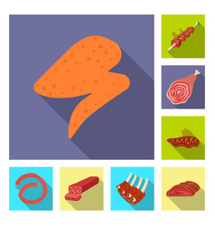 design of meat and ham symbol set of meat vector image