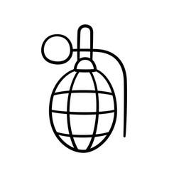 Doodle hand combat grenade children drawing vector
