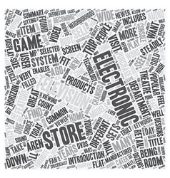 Electronics stores text background wordcloud vector