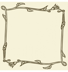 floral frame elements vector image