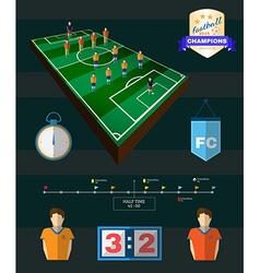 Football Stadium Playfield Side View vector image
