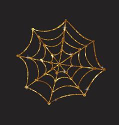 golden glitter silhouette halloween holiday vector image
