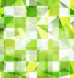 green squares seamless pattern vector image