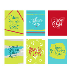 greeting card with mothers day vector image