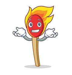Grinning match stick character cartoon vector
