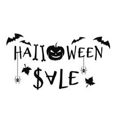 halloween sale concept design text banner vector image
