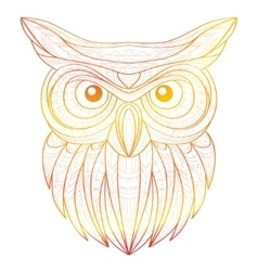 Hand drawn doodle outline owl vector