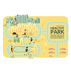 Healthy park Recreation info graphic vector image