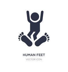 Human feet icon on white background simple vector