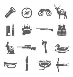 hunting icon set professional sport and wildlife vector image