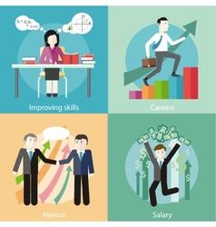 Improving Skills Careers Mentor Salary vector
