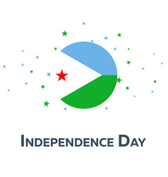 independence day of djibouti patriotic banner vector image