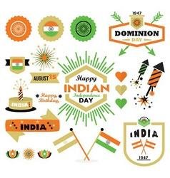 Indian flags design element vector