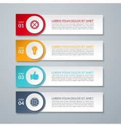 Infographic design number options template vector image