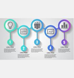 infographics business five steps timeline vector image