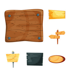 isolated object of signboard and wood symbol vector image