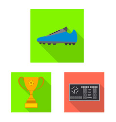 isolated object of soccer and gear sign set of vector image