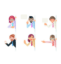 isolated office workers cartoon support help vector image