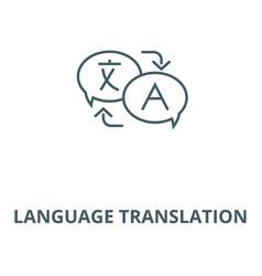 Language translation line icon linear vector