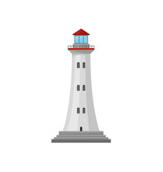 Lighthouse with a red roof vector