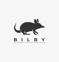 Logo mouse silhouette style vector