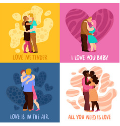 Love hugs design concept vector