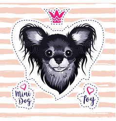 lovely puppy glamorous dog russian toy terrier vector image