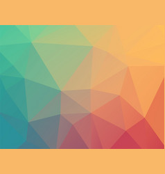 low poly pastel blue red background vector image