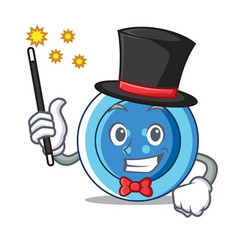 magician clothing button character cartoon vector image