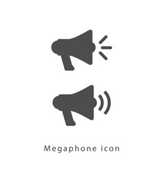 Megaphone icon set vector