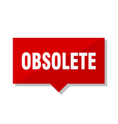 Obsolete red tag vector