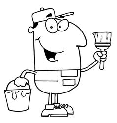 Painter cartoon vector