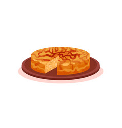 Patatnik traditional pie with potato and cheese vector