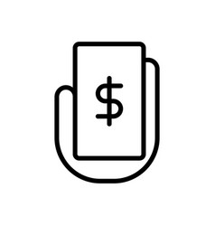 Payment banking icon vector