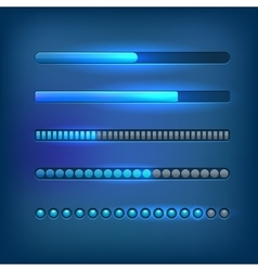 Progress bars set vector