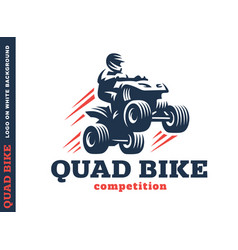 Quad bike competition logo design vector