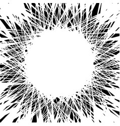 Random chaotic lines merging intersecting at vector