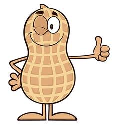 Royalty free rf clipart winking peanut cartoon vector