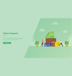 Salary payment people very happy earning money in vector