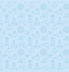 sea seamless pattern background vector image