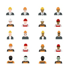 Set of people avatars profession professional vector